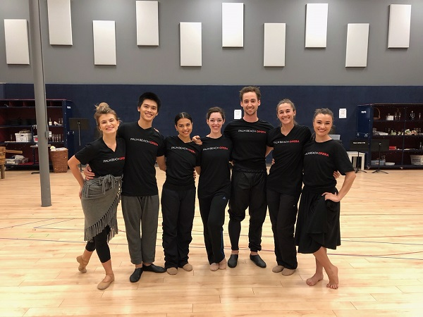 BPB dancers after rehearsals at Palm Beach Opera